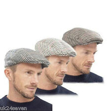 New Tweed herringbone Gatsby Cap Hat Mens Ladies Flat 8 Panel Baker Boy Newsboy