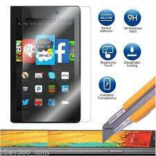 Glass Screen Protector for Amazon Kindle Fire HD 6 & 7 2014 + Laser Stylus