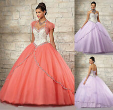 Free Jacket Beads Specialized Ball Gown Quinceanera Dresses Custom Made All Size