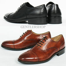 Men's Shoes Handmade Leather Perforated Brogue Classic Oxfords 5540, GENTLERSHOP