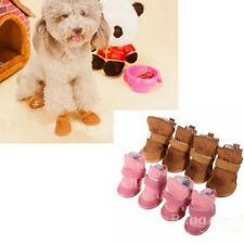 New Lovely Dog Pet Shoes Puppy Warm Cotton Winter Shoes Snow Boots Bottes XS-XL