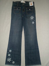 Gymboree WINTER CHEER Blue Jeans Snowflake Stitch Cuff Bootcut Pants NWT 10 12