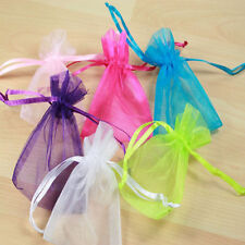 50 Organza Gift Bags Jewellery Christmas Packing Pouches Wedding Party Favour b