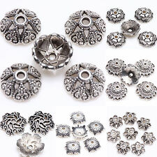 Exquisite Silver Plated Loose Spacer Bead Flower Caps Jewelry Making Finding DIY