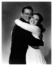 Actress Maureen O'Hara And Movie Actor John Wayne Celebrity Silver Halide Photo