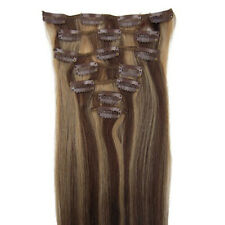 """15""""18""""20""""22"""" Clip In Extensions 100% Remy Real Human Hair #4/27 7PCS"""