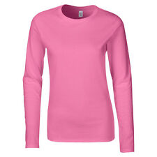 Softstyle Womens Long Sleeve T-Shirt Feminine Fit Casual Wear Shirt Top UK