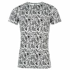 Mens No Masters Over Print T Shirt New