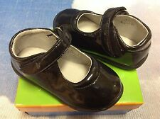 Jumping Jacks Stacy Black Patent V Mary Janes Dress Shoe Toddler Size 8 M&W