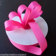 HOT PINK Grosgrain Ribbon ASSORTED WIDTHS For Sewing & Decorating
