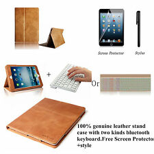 Leather Wireless Bluetooth Keyboard Case Cover for iPad 2 3 4 air 2 mini 1 2 3