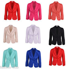Stylish Women's Casual Slim Fit Single Breasted Button Suit Blazer Coat Jacket