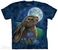 Moon Gazer T-Shirt by The Mountain. Bunny Rabbit Tee Sizes S-5XL NEW