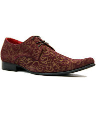 NEW MADCAP MOD RETRO MOD SIXTIES PAISLEY SUEDE SHOES Winklepickers 60s JAG WINE