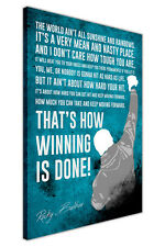 DISTRESSED ROCKY BALBOA MOVIE QUOTE CANVAS WALL ART PICTURES BOXING PRINTS DECO