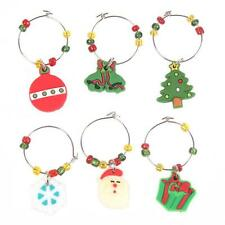 Novelty Christmas XMAS Wine Glass Marker Charms Table Party Decorations Gifts YZ