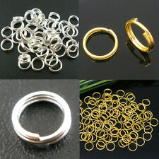 Lots Open Double Split Jump Rings Connectors Jewelry Findings 4/5/6/8/10/12/14mm