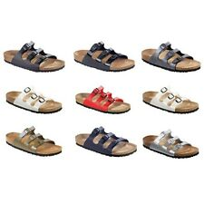 Birkenstock Florida Sandals Birko-Flor - narrow regular - white blue black brown