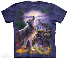 Wolfpack Moon T-Shirt by The Mountain. Wild Wolves & Full Moon Sizes S-5XL NEW