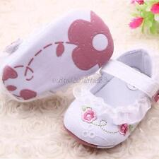 Lovely Baby Girl Floral Lace Working Shoes Soft Mary Jane Soft Sole Crib Shoes