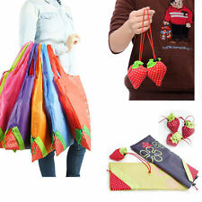 Eco Friendly Foldable Strawberry Recyclable Shopping Tote Bag Reusable Handbag
