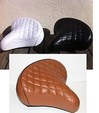 "BICYCLE BEACH CRUISER SEAT 10"" X 10"" DIAMOND TREAD BLACK or WHITE or BROWN NEW!"