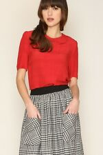 Pepaloves 1960's Style Vintage Inspired Nadia Houndstooth Flare Skirt PE-7262