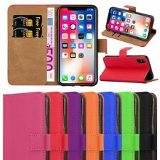 New Slim Flip Book Soft Leather TPU Holder Wallet Case Cover For Apple iPhones