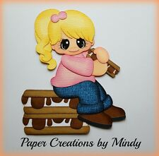 Craftecafe Mindy Summer Smores girl premade paper piecing for scrapbook page