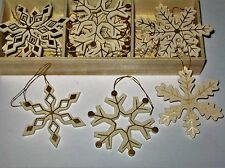 Wooden Snowflakes, CHRISTMAS TREE DECORATIONS , hanging decorations -