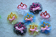 New Pet Dog Hair Bows Rubber Bands Crown Shinny Pet Grooming Hair bows Topknot