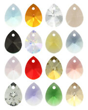 2 X Genuine SWAROVSKI 6128 XILION Mini Pear Pendant 12mm * Many Colors