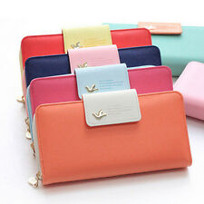 Women Lady's Leather Button Clutch Purses Long Handbag Card Phone Holder Wallets