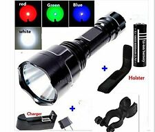 5 Modes Tactical C8 2500 Lumens Cree Xm-l T6 5-mode LED 18650 Flashlight Torch
