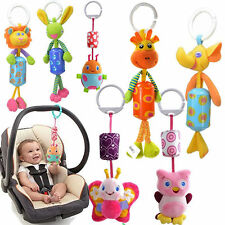 1X  Baby Infant Rattles Plush Animal Stroller Music Hanging Bell Toy 7Styles Fun