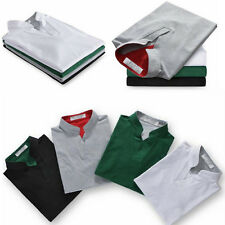 6 Colors Men Lapel POLO Casual Shirt Short Sleeve Tee T-shirt Outfit Size M-3XL