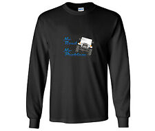 "Toyota FJ40 Landcruiser ""No Road No Problem"" Design Long Sleeve Black T Shirt"