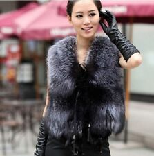 Women Winter Vest Sleeveless Outerwear Coat Faux Fur Casual Waistcoat Jacket R01