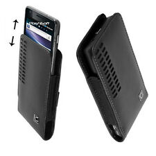 Leather OPEN-TOP Case Cover Pouch Holster + Swivel Belt Clip for HTC PHONES, New
