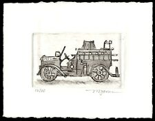 "Micheal Jones exlibris ex libris ""MFD"" aquatint etching edition 20"