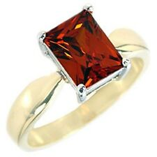 14K GOLD EP 4.5CT GARNET SOLITAIRE  RING sizes 5-10 u choose the size