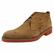Mens Loake Brown Oiled Suede Casual Lace Up Ankle Boots Lennox