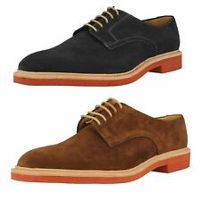 Mens Loake Brown Navy Suede Smart Casual Lace Up Derby Shoes Morrison