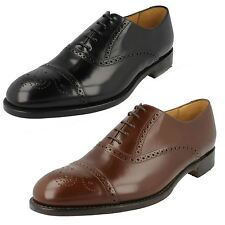 Mens Loake Formal Leather Classic Semi-Brogue Toe Cap Lace Up Shoes Oban
