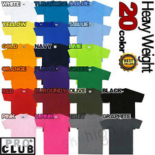 PROCLUB Mens HEAVY T Shirts hiphop short Sleeve S-5XL Plain Tee Big Tall