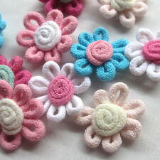 10/20/30/150pcs Cotton Spring Rope Sunflower Appliques/Craft​-Mix