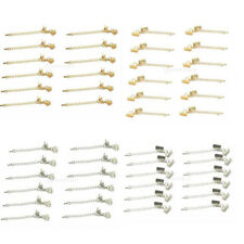 Set 12pcs Clips Ends Cord With Lobster Clasp and Extension Chain Silver/Gold NEW