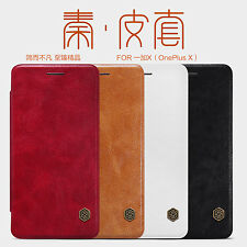 NILLKIN Qin Slim Classic Flip PU Leather Wallet Phone Cases Covers For OnePlus X
