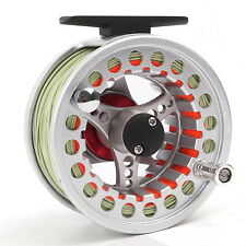 5/6/7/8wt Fly Reel W/ Fly Line, Leader Pre-Spooled Fly Fishing Reel Aluminum