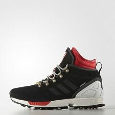 NEW MENS ADIDAS ORIGINALS ZX Flux 11 Winter Shoes Boots Black White Red S82931